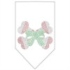 Mirage Pet Products Candy Cane Crossbones Rhinestone Bandana White Small