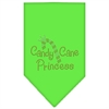 Mirage Pet Products Candy Cane Princess Rhinestone Bandana Lime Green Small