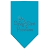 Mirage Pet Products Candy Cane Princess Rhinestone Bandana Turquoise Large