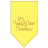 Mirage Pet Products Candy Cane Princess Rhinestone Bandana Yellow Small