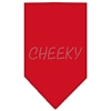 Mirage Pet Products Cheeky Rhinestone Bandana Red Small