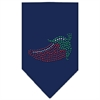 Mirage Pet Products Chili Pepper Rhinestone Bandana Navy Blue Small