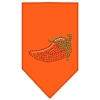Mirage Pet Products Chili Pepper Rhinestone Bandana Orange Large