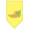 Mirage Pet Products Chili Pepper Rhinestone Bandana Yellow Large