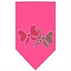 Mirage Pet Products Christmas Bows Rhinestone Bandana Bright Pink Small