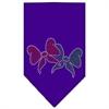 Mirage Pet Products Christmas Bows Rhinestone Bandana Purple Small