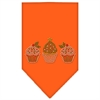 Mirage Pet Products Christmas Cupcakes Rhinestone Bandana Orange Small