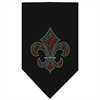 Mirage Pet Products Christmas Fleur De Lis Rhinestone Bandana Black Small