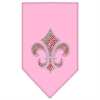 Mirage Pet Products Christmas Fleur De Lis Rhinestone Bandana Light Pink Small