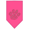 Mirage Pet Products Christmas Paw Rhinestone Bandana Bright Pink Small