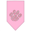 Mirage Pet Products Christmas Paw Rhinestone Bandana Light Pink Large