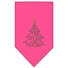 Mirage Pet Products Christmas Tree Rhinestone Bandana Bright Pink Large