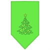 Mirage Pet Products Christmas Tree Rhinestone Bandana Lime Green Small
