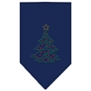 Mirage Pet Products Christmas Tree Rhinestone Bandana Navy Blue Small