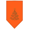 Mirage Pet Products Christmas Tree Rhinestone Bandana Orange Small