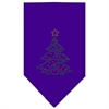Mirage Pet Products Christmas Tree Rhinestone Bandana Purple Large