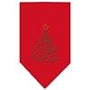Mirage Pet Products Christmas Tree Rhinestone Bandana Red Small