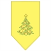 Mirage Pet Products Christmas Tree Rhinestone Bandana Yellow Large