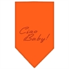 Mirage Pet Products Ciao Baby Rhinestone Bandana Orange Large