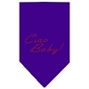 Mirage Pet Products Ciao Baby Rhinestone Bandana Purple Large