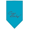Mirage Pet Products Ciao Baby Rhinestone Bandana Turquoise Large
