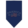Mirage Pet Products Classic American Rhinestone Bandana Navy Blue large