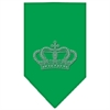 Mirage Pet Products Crown Rhinestone Bandana Emerald Green Large