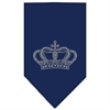 Mirage Pet Products Crown Rhinestone Bandana Navy Blue Small