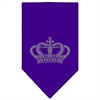Mirage Pet Products Crown Rhinestone Bandana Purple Large
