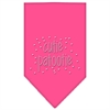 Mirage Pet Products Cutie Patootie Rhinestone Bandana Bright Pink Small