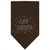 Mirage Pet Products Cutie Patootie Rhinestone Bandana Cocoa Small