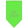 Mirage Pet Products Cutie Patootie Rhinestone Bandana Lime Green Small