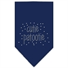 Mirage Pet Products Cutie Patootie Rhinestone Bandana Navy Blue Small