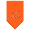 Mirage Pet Products Cutie Patootie Rhinestone Bandana Orange Large
