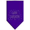 Mirage Pet Products Cutie Patootie Rhinestone Bandana Purple Small