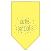 Mirage Pet Products Cutie Patootie Rhinestone Bandana Yellow Small