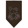 Mirage Pet Products Bunny Rhinestone Bandana Brown Small