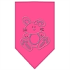 Mirage Pet Products Bunny Rhinestone Bandana Bright Pink Small