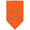 Mirage Pet Products Bunny Rhinestone Bandana Orange Small