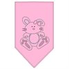 Mirage Pet Products Bunny Rhinestone Bandana Light Pink Large