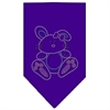 Mirage Pet Products Bunny Rhinestone Bandana Purple Small