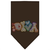 Mirage Pet Products Technicolor Diva Rhinestone Pet Bandana Cocoa Size Large
