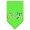 Mirage Pet Products Technicolor Diva Rhinestone Pet Bandana Lime Green Size Large