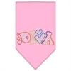 Mirage Pet Products Technicolor Diva Rhinestone Pet Bandana Light Pink Size Large