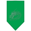 Mirage Pet Products Dragon Rhinestone Bandana Emerald Green Large
