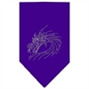Mirage Pet Products Dragon Rhinestone Bandana Purple Large
