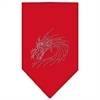Mirage Pet Products Dragon Rhinestone Bandana Red Small