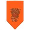 Mirage Pet Products Eagle Rose Rhinestone Bandana Orange Large