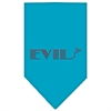 Mirage Pet Products Evil Rhinestone Bandana Turquoise Large