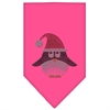 Mirage Pet Products Santa Penguin Rhinestone Bandana Bright Pink Large